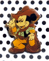1 Pin's Disney Mickey Cowboy Vêtement Brun - Disney