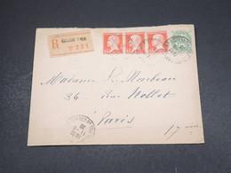 FRANCE - Enveloppe En Recommandé De Boulogne Sur Mer Pour Paris En 1926 , Affranchissement Plaisant - L 18278 - Marcophilie (Lettres)