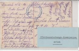 Cp Vue '(  BARNICH, Le Chateau )  Du 15.6.16->Allemagne + Censure PFERDEAUSHEBUNGS-KOMMISSION / ARLON ( RARE )un Village - WW I