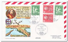 Zwitserland 1969, FDC, BIT/ILO, Visit Pope - ILO