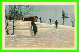 SPORTS D'HIVER - OUT ON A SKI TRAIL - ANIMATED - PECO - - Sports D'hiver