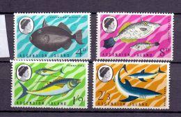 1968 Ascension Island - Fishes Of Ascension / Fisches - Satz Vom 4 V Paper - MNH** MI 118/121 Bsh - Ascensión