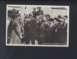 Dt. Reich AK Hitler Beim Sudetendeutschen Freikorps 1938 - Historische Persönlichkeiten
