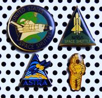 Lot 4 Pin's Conquête Spatiale Astronautique NASA Navette Spatiale Satellite ASTRA Spationaute CCE - Avions