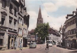 ALLEMAGNE,GERMANY,DEUTSCHLAND,FREIBURG  BREISGAU,FRIBOURG EN BRISGAU,centre Ville,1958,voiture,magasi N,rail - Freiburg I. Br.
