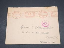 ALLEMAGNE - Enveloppe De Augsburg Pour Paris En 1943 , Affranchissement Mécanique - L 18300 - Allemagne