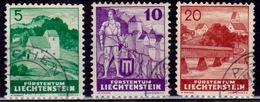 Liechtenstein, 1937, Definitives, Sc#137,38,40, Used - Liechtenstein