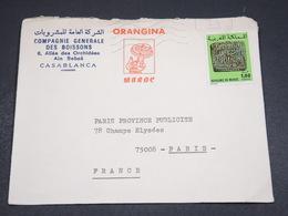 MAROC - Enveloppe Commerciale De Casablanca Pour Paris En 1980 - L 18302 - Maroc (1956-...)