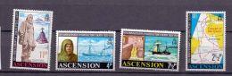1972 Ascension Island - 50 Years Of Death Of  E.Shackleton / 50 Todestag Vom E. Shackleton MNH**  Mi 160-163 (bsh) - Ascensión