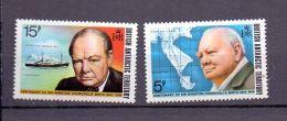 1974 BAT / Britisch Antarktik Geb. -100 Years Sir W. Churchill / 100. Geburtstag Churchill -2v Set -MNH** M62/3 (bsh) - Ungebraucht