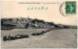 78 CONFLANS-SAINTE-HONORINE - Vue Générale Prise Du Pont - Conflans Saint Honorine
