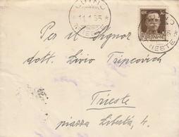 Duino. 1935. Annullo Guller DUINO *TRIESTE*,  Su  Lettera Affrancata Con  C. 30 - 1900-44 Victor Emmanuel III.