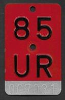 Velonummer Uri UR 85 - Plaques D'immatriculation