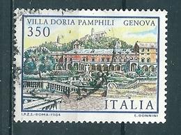 1984  VILLA DORIA PAMPHILI 350 Lire USATO - 6. 1946-.. Repubblica