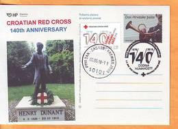 Croatia 2018 Y Postcard Overprint Croatian Red Cross 140th Ann Postmark Zagreb 08.05. - Croatia