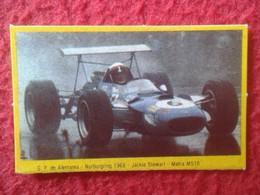 ANTIGUO CROMO DANONE COLECCIÓN GRAN PRIX FORD F1 FÓRMULA 1 G. P. DE ALEMANIA NURBURGRING 1968 JACKIE STEWART MATRA MS10 - Cromos