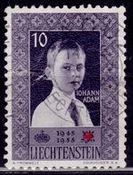 Liechtenstein, 1955, Red Cross Anniv., 10Rp, Sc#293, Used - Liechtenstein