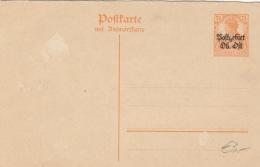 """DEUTSCHES REICH 1919? - 7,5 Pfg Mit Überdruck """"Postgebiet Ob Ost"""" Auf Pk ** - Stamped Stationery"""