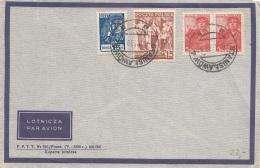 POLEN 1939 - Seltene 4 Fach Frankierung Auf Luftpost Brief Stempel Stanislalow - 1919-1939 Republik