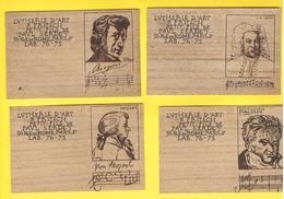 Cartes Souples En Bois.LUTHERIE D'ART R. FRITSCH Petit Fils De Paul SERDET. 56 R.DE ROME.PARIS.CHOPIN.MOZART.BACH.BEETHO - Cartes De Visite