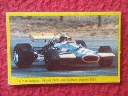 ANTIGUO CROMO DANONE COLECCIÓN GRAN PRIX FORD F1 FÓRMULA 1 G. P. DE SUDÁFRICA KYALAMI 1970 JACK BRABHAM BRABHAM BT33 VER - Cromos