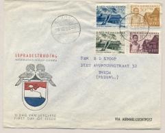 Nederlands Nieuw Guinea - 1956 - Lepra Serie 1e Dag / FDC Op Cover Van Sorong/2 Naar Breda / Nederland - Nederlands Nieuw-Guinea