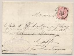 België - 1885 - 10c Leopold II Op Vouwbrief Van Anvers Naar Havelange - 1883 Leopold II