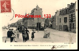 """14 Calvados - SAINT AUBIN Sur MER - """" Entrée De La Rue Pasteur - Les Berlingots - Animation - Femme Avec Landeau  """" - Saint Aubin"""