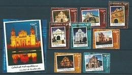 Guatemala (2005) Yv. 537/44 + Bf. 36   /  Churches - Cathedrals - Architecture - Towerclock - Kerken En Kathedralen