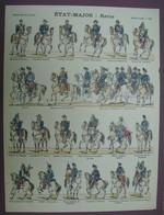 Uniformes Militaires - ETAT-MAJOR : Revue - Imagerie D'Epinal N°160 - PELLERIN - Estampes & Gravures