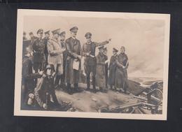 Dt. Reich AK Haus Der Deutschen Kunst Hitler Im Kampfgelände  Von Konrad Hommel 1944 - Personnages Historiques