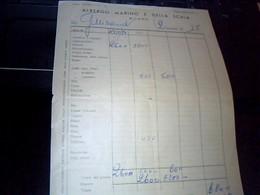Facture   Hotel Albergo Marino E Della Scala A Milan Italie Annee 1954 - Italie
