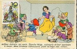 34519  Hungary Maximum 1961 Snow White And The Seven Dwarfs,blanche Neige Et Les Sept Nains,schneewittchen Und 7 - Contes, Fables & Légendes