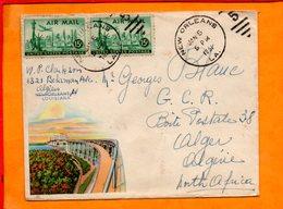 ETATS UNIS, Lettre De New Orleans Pour Alger (Algerie) - Vereinigte Staaten