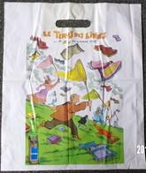 SAC DRAC LE TEMPS DES LIVRES OCTOBRE1995 PLASTIQUE PUBLICITAIRE 40X35cm SACCUPLASTIKOPHILE COLLECTIONNEUR -SITE Serbon63 - Books, Magazines, Comics