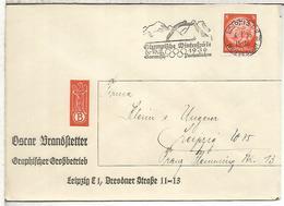ALEMANIA LEIPZIG 1936 CC MAT JUEGOS OLIMPICOS INVIERNO GARMISCH PARTENKIRCHEN PERFORADO PERFIN OB - Winter 1936: Garmisch-Partenkirchen