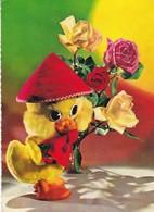 PELUCHE PUPPET PATO DUCK ROSES ROSAS. EDICOLOR. CIRCA 1970's.-BLEUP - Bloemen