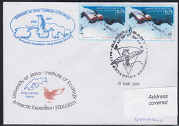 ANTARCTIC, Germany/Argentina,2001,UNI Jena Ökologie-Exp.Cachet,look Scan !! 4.4-25 - Postzegels