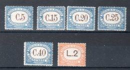San Marino  1939  Segnatasse (Sass.54/59) **MNH - Segnatasse