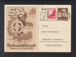 Dt. Reich GSK SA Wettkämpfe Mit Ersttagsstempel - Deutschland