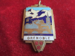 Médaille / Paysage De Neige / GRENOBLE/ Bronze Cloisonné Et émaillé/ Vers 1930 - 1950      MED209 - Francia