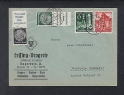 Dt. Reich Brief Magdeburg 1939 Nach Schweiz ZD - Briefe U. Dokumente