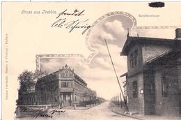 TREBBIN Baruther Straße Station Chausseehaus Zoll Schlagbaum Straßenbenutzungsgebühr 30.7.1901 Gelaufen - Trebbin