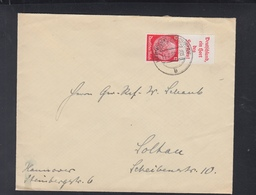 Dt. Reich Brief 1937 Hannover ZD Hort Des Friedens - Briefe U. Dokumente