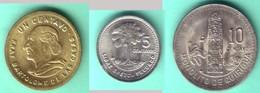GUATEMALA - Mini-set:  1, 5 And 10 Centavos 1991 - KM# 275.3 , 276.4 , 277.7  Unc - Guatemala