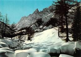 Cartolina Courmayeur Sfondo Aiguille Noire Monte Bianco - Unclassified