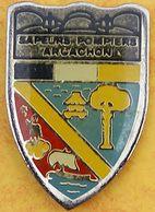 DD 51....  ECUSSON DES SAPEURS POMPIERS D ARCACHON..........département De La Gironde - Pompiers