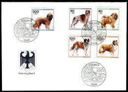 00624) BRD - Mi 1836 / 1840 - FDC - Hunderassen, Jugend 96 - FDC: Brieven