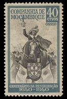 Mozambique Company Scott #202, 40¢ Gray Green & Black (1940) King John IV, Mint Hinged - Mozambique