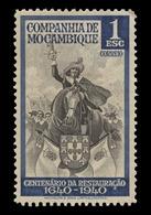 Mozambique Company Scott #207, 1e Gray Green & Black (1940) King John IV, Mint Hinged - Mozambique